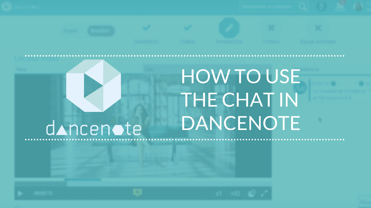 Tuto #3: How to use the chat in DanceNote